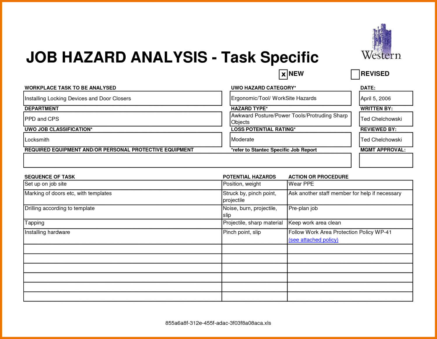 free job safety analysis form  free printable business templates job site safety analysis template example