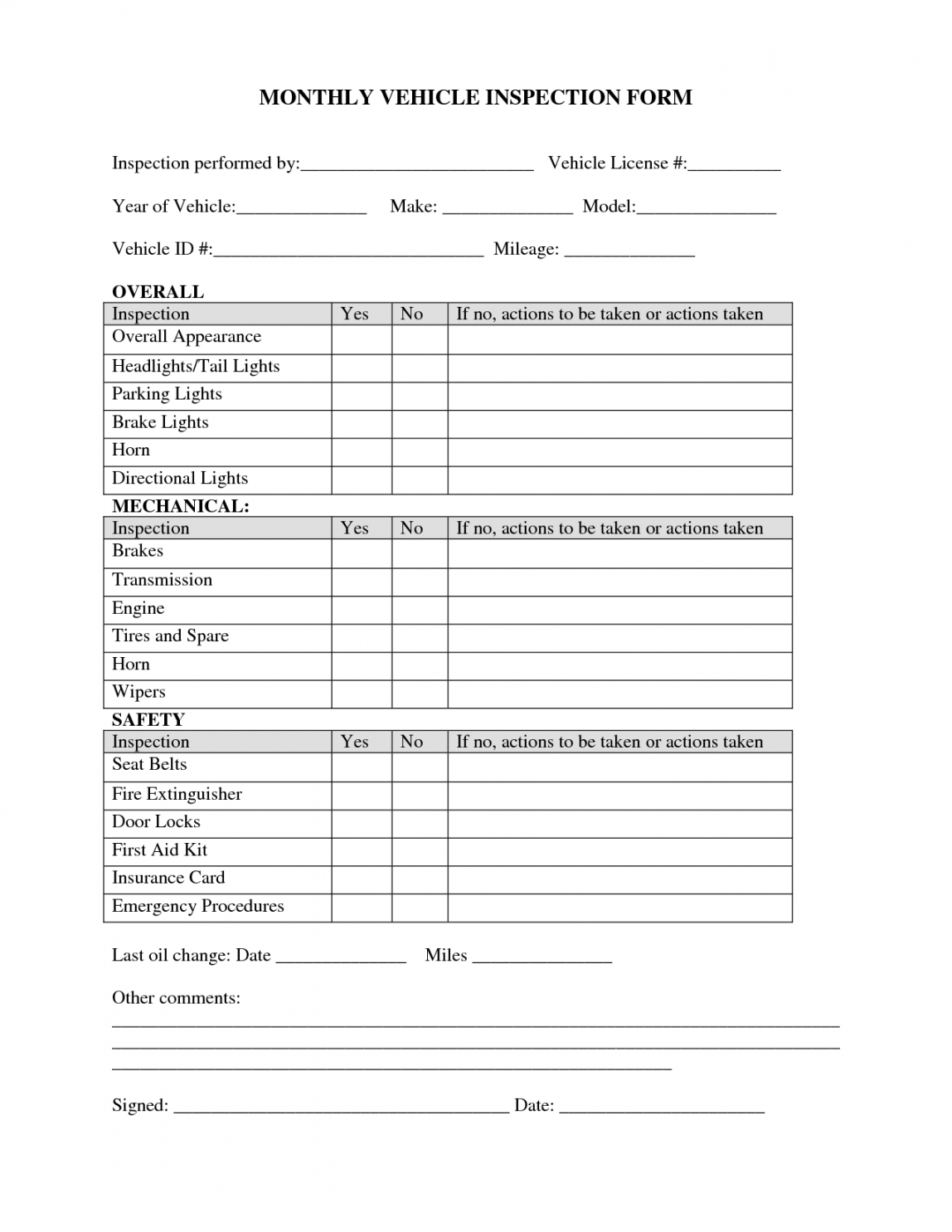 free monthly safety checklist template  examples and forms monthly inspection checklist template samples