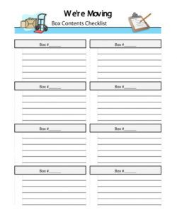 free moving box inventory list template office hecklist home house moving checklist template