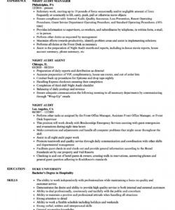 free night audit resume samples  velvet jobs night audit checklist template excel