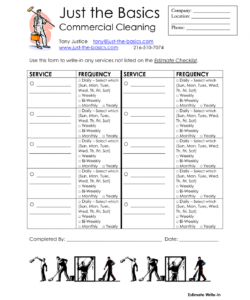 free office cleaning checklist commercial printable diy supplies company cleaning services checklist template excel
