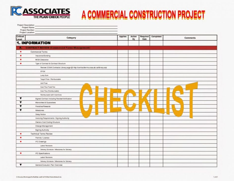 free residential construction checklist template goal goodwinmetals co residential construction checklist template samples