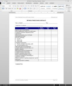 free trade show checklist template trade show checklist template samples