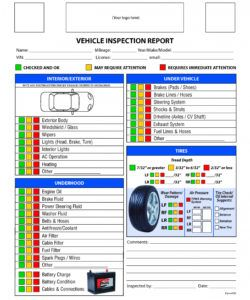 free vehicle inspection checklist form  good to know  vehicle used car inspection checklist template samples