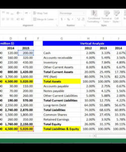 free vertical analysis for balance sheet items using excel  youtube vertical analysis balance sheet template excel