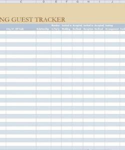 free wedding guest list template  wedding guest list wedding guest checklist template samples