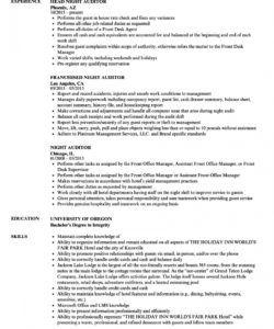 night auditor resume samples  velvet jobs night audit checklist template samples