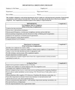 office orientation checklist  barethouseofstraussco orientation checklist template for new employee samples