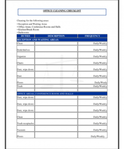office schedule template ideas business personal daily cleaning office move checklist template pdf