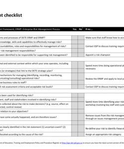 printable 10 risk management checklist examples  pdf  examples risk assessment checklist template pdf