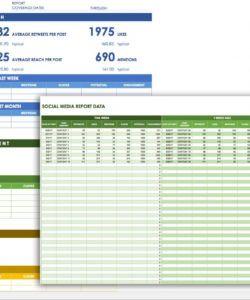 printable 12 free social media templates  smartsheet social media checklist template excel