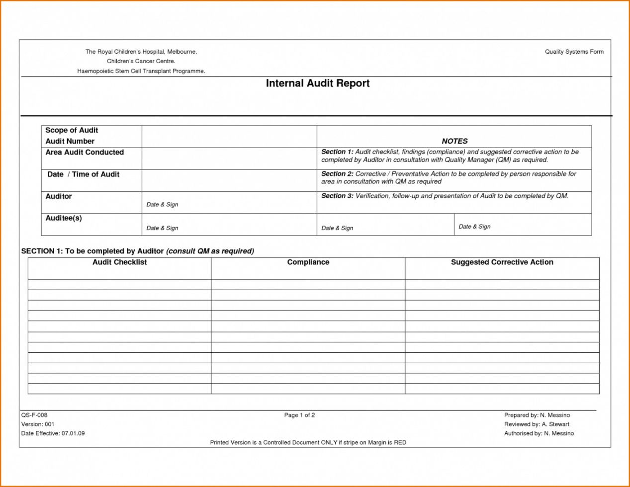 printable checklist template samples supplier audit internal report quality vendor audit checklist template samples