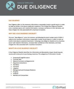 printable corporate due diligence checklist  ajancicerosco vendor due diligence checklist template examples
