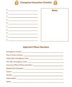 printable emergency evacuation checklist template samples hmh designs fire evacuation checklist template pdf