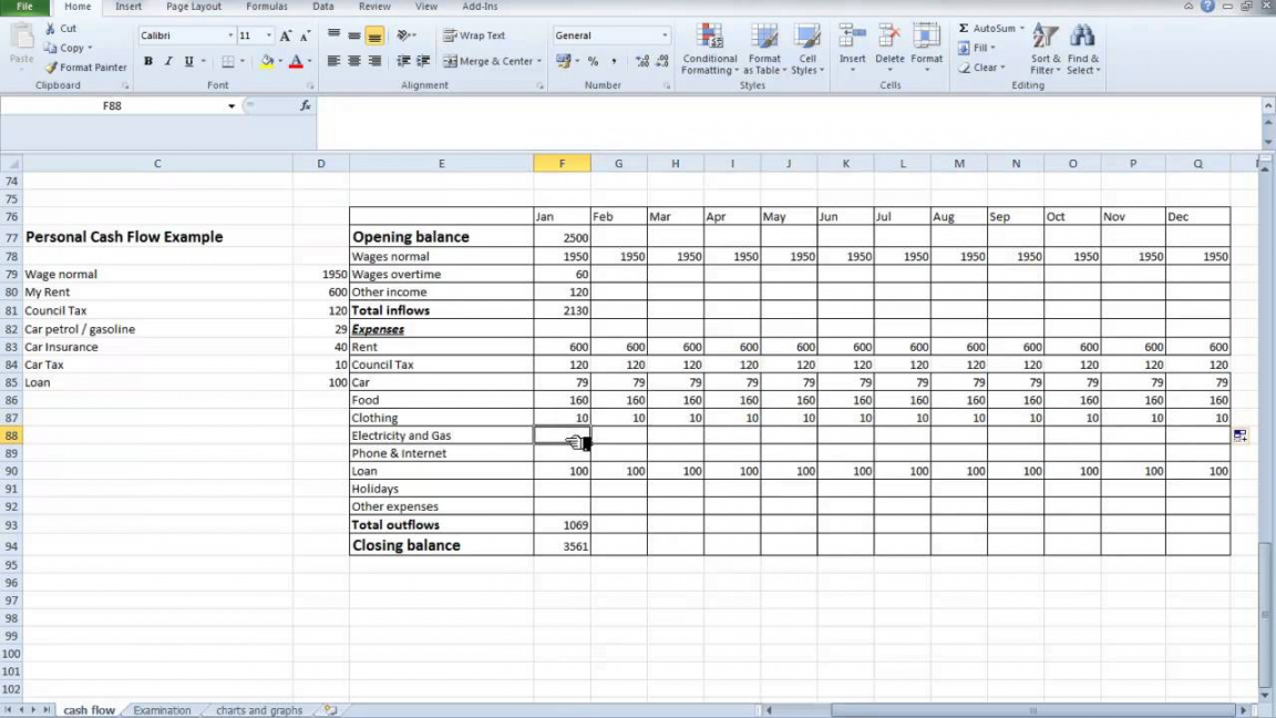 printable excel spreadsheet template for small business cash flow excel project cash flow analysis template