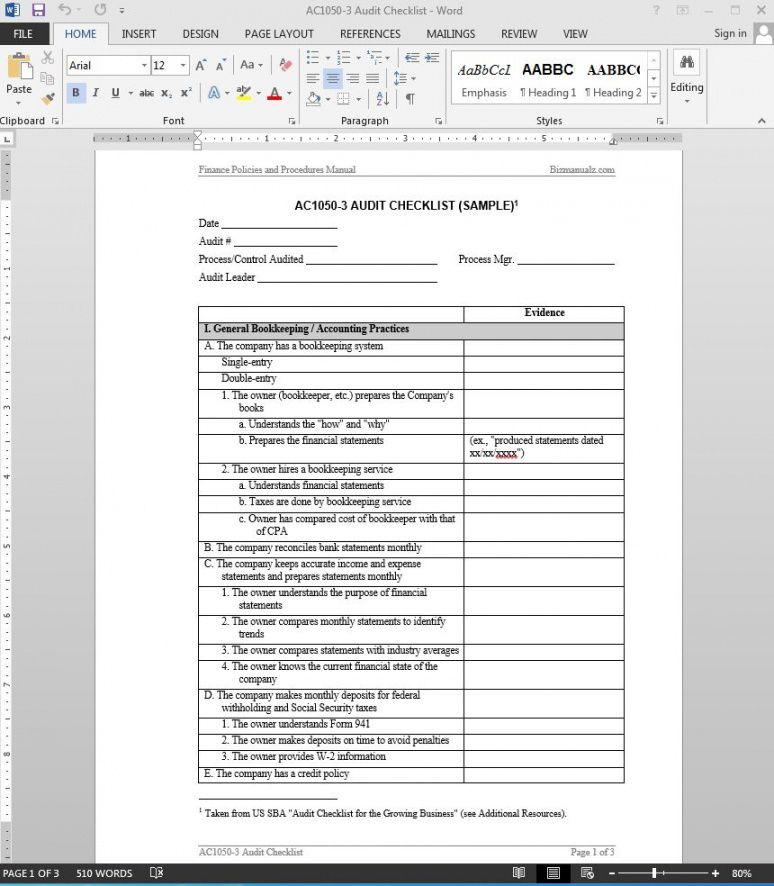 internal financial audit checklist template. Black Bedroom Furniture Sets. Home Design Ideas