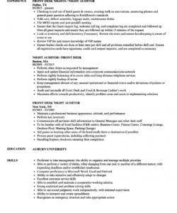 printable front desk night auditor resume samples  velvet jobs night audit checklist template