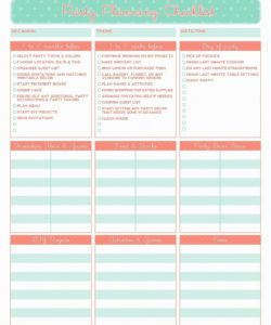 printable image result for event planner free printables  event planner party planner checklist template