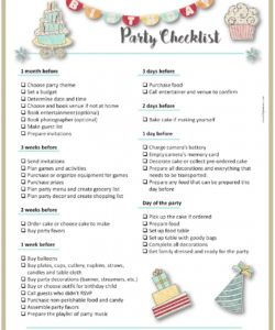 printable party planning template party planner checklist template doc