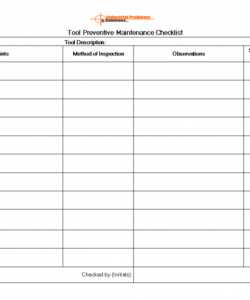 printable preventive maintenance checklist format pdf machine pump for dry computer preventive maintenance checklist template pdf