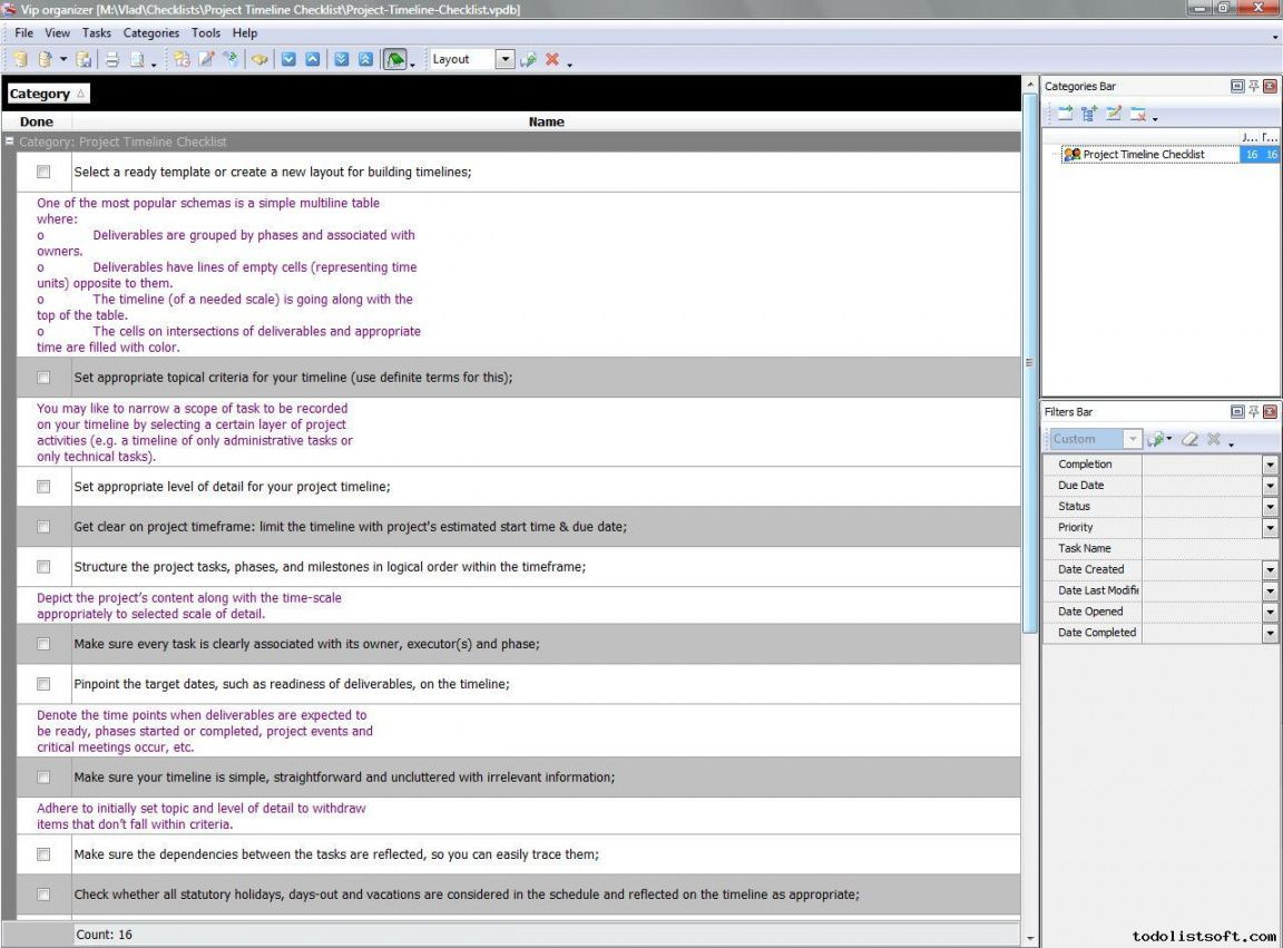 project timeline checklist  to do list organizer checklist pim timeline checklist template samples