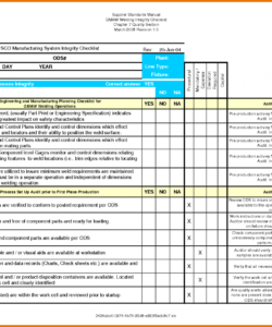 security audit information checklist xls hipaa template samples security audit checklist template examples