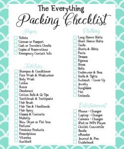 travel packing checklist template samples list printables baby pdf trip packing checklist template doc