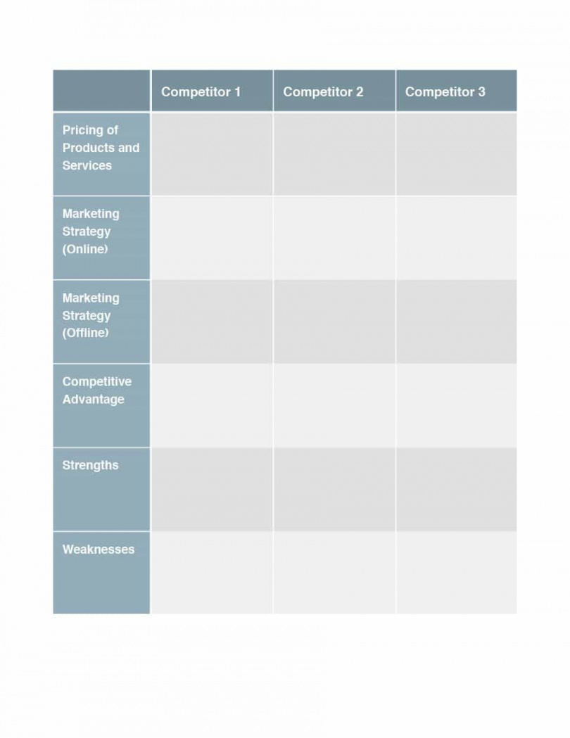 competitive analysis templates  40 great examples [excel word pdf product competitive analysis template excel