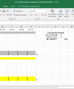 editable cost benefit analysis template for excel  template trader product cost analysis template excel