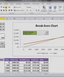 editable create a break even analysis chart  youtube break even analysis template excel free doc