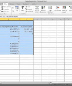 editable how to run a paired samples ttest in excel  youtube paired comparison analysis excel template excel