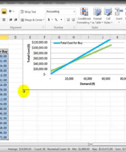 editable mod 3  7 breakeven analysis make or buy  youtube make vs buy analysis excel template