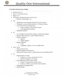 free a3 report  problem solving  qualityone a3 root cause analysis template excel