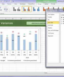free excel variance charts  youtube variance analysis excel template doc