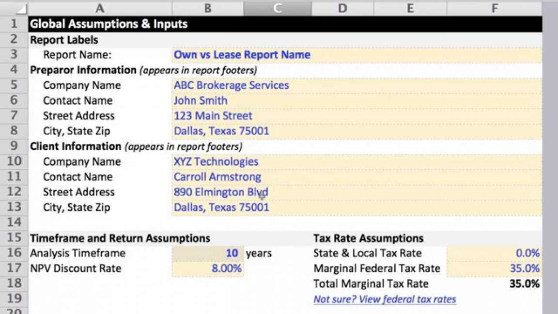 lease vs buy analysis excel template  youtube make vs buy analysis excel template pdf