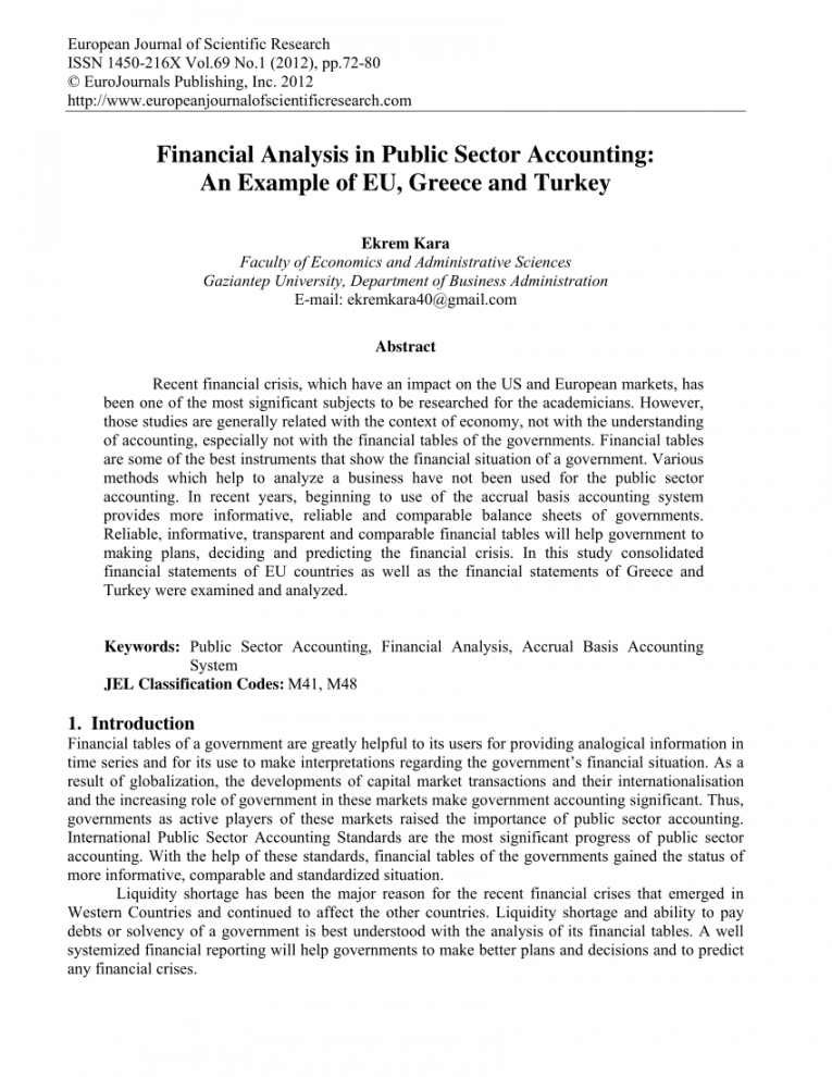 pdf financial analysis in public sector accounting an example of financial analysis report template