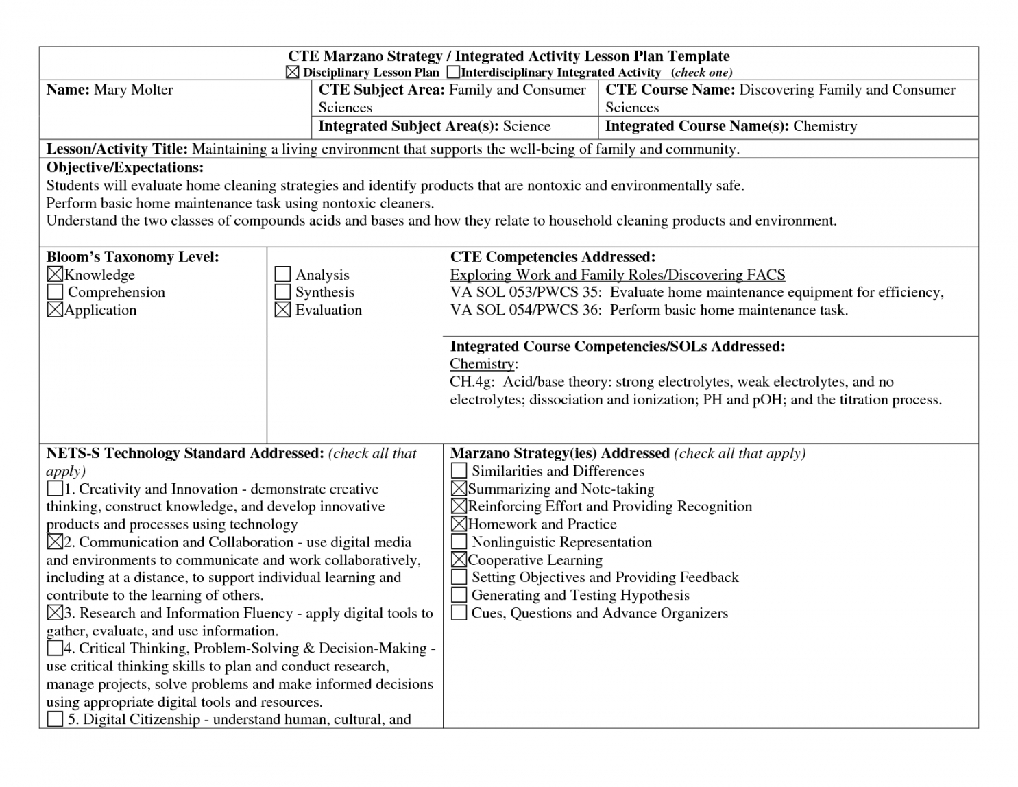 011 cte lesson plan template exceptional templates mathincte task analysis lesson plan template example