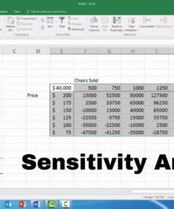 editable sensitivity analysis  microsoft excel 2016  youtube sensitivity analysis spreadsheet template doc