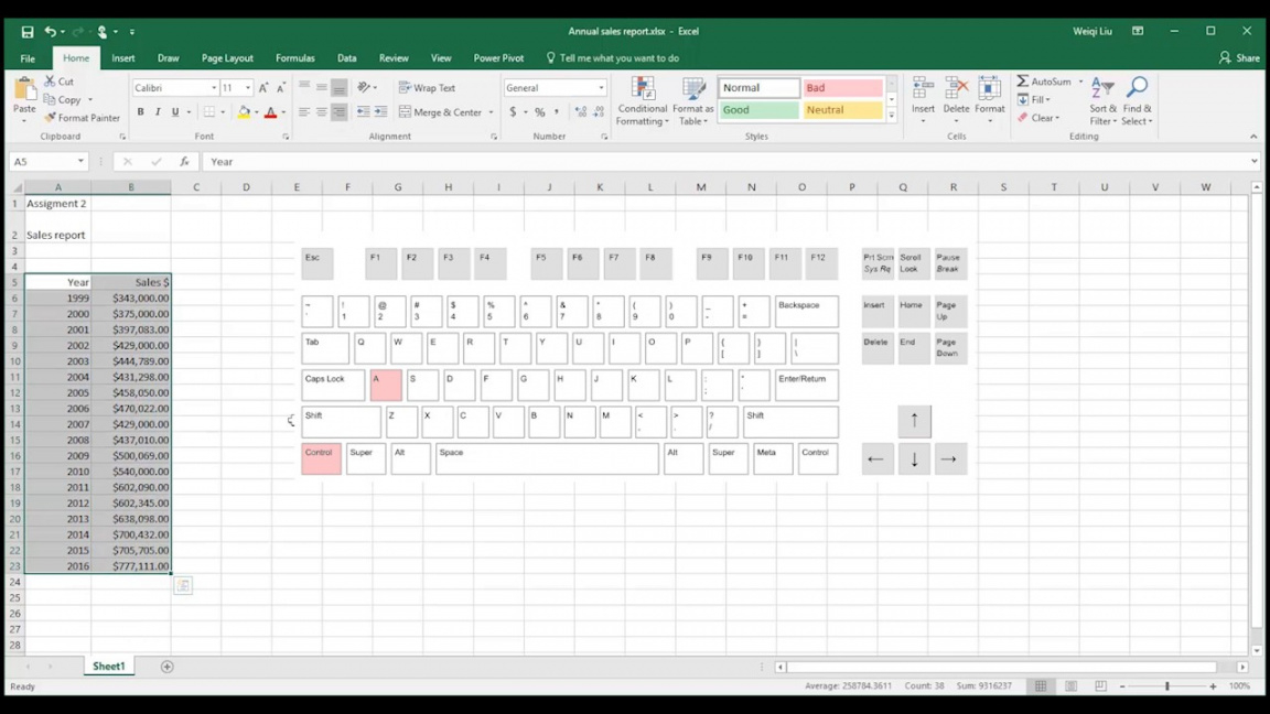 editable trend analysis with microsoft excel 2016  youtube sales trend analysis excel template excel