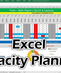 excel capacity planner  youtube manufacturing capacity analysis template excel