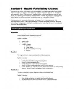 printable 12 hazard vulnerability analysis examples  pdfword  examples system safety hazard analysis report template doc