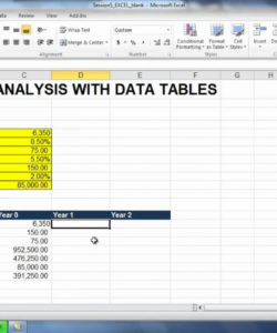 printable exercise 51 sensitivity analysis  building the spreadsheet model sensitivity analysis spreadsheet template excel