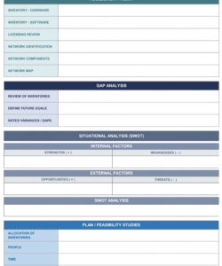 printable it strategic plan excel template  bit of this & that interesting strategic analysis report template