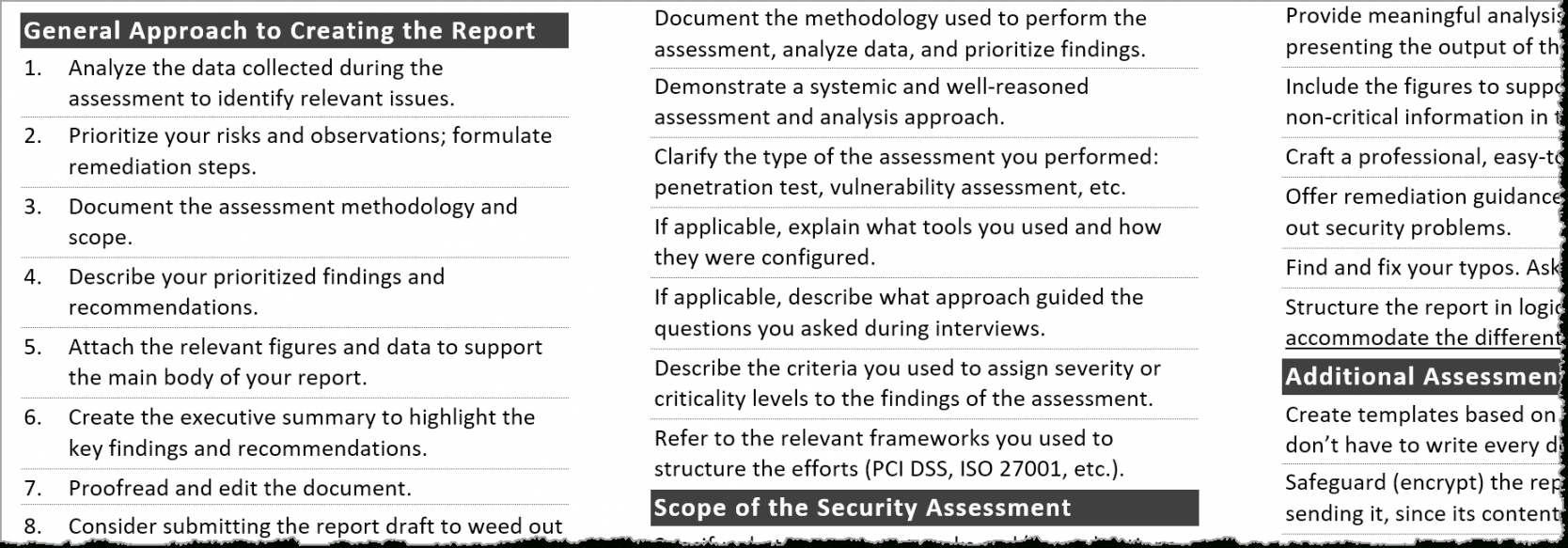 printable tips for creating a strong cybersecurity assessment report security risk analysis template for meaningful use doc