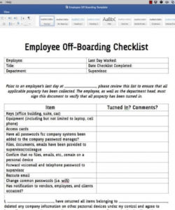 editable employee off boarding checklist template  youtube offboarding checklist template doc