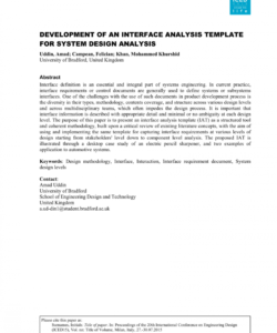editable pdf development of an interface analysis template for system design system analysis and design document template example