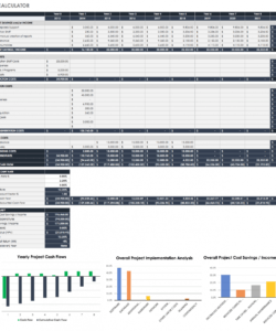 free free roi templates and calculators smartsheet return on investment analysis template sample
