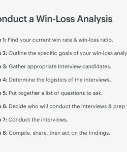 free how to conduct winloss analysis a stepbystep guide  copper win loss analysis template