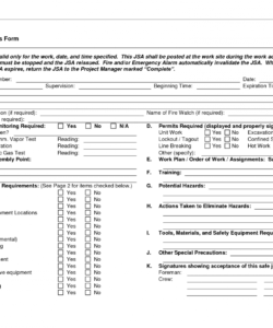 free job safety analysis forms  job safety analysis form  doc job hazard analysis template free pdf