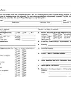 free job safety analysis forms  job safety analysis form  doc job hazard analysis template free pdf